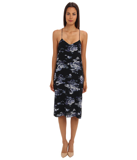 tibi - Floreale Print Slip Dress (Black Multi) Women's Dress