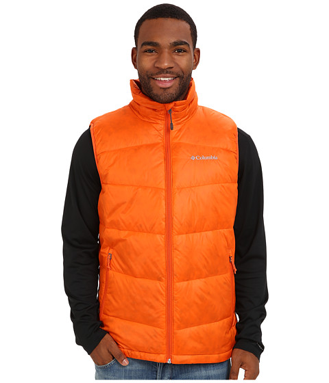 Columbia - Gold 650 TurboDown Down Vest (Backcountry Orange) Men's Vest