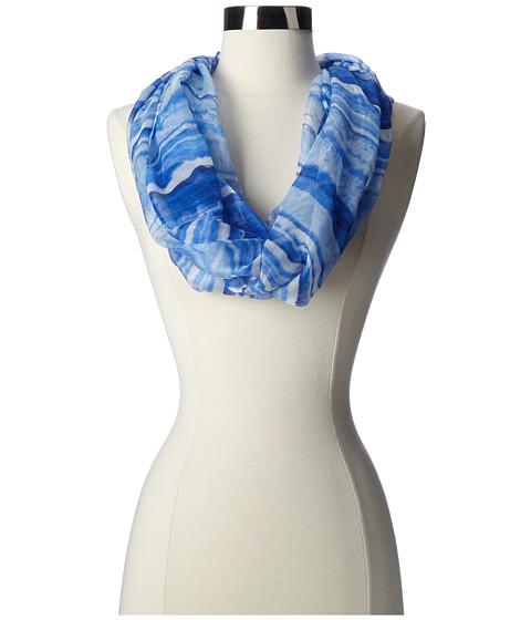 MICHAEL Michael Kors - Lapis Stripe Print Scarf (Blue) Scarves