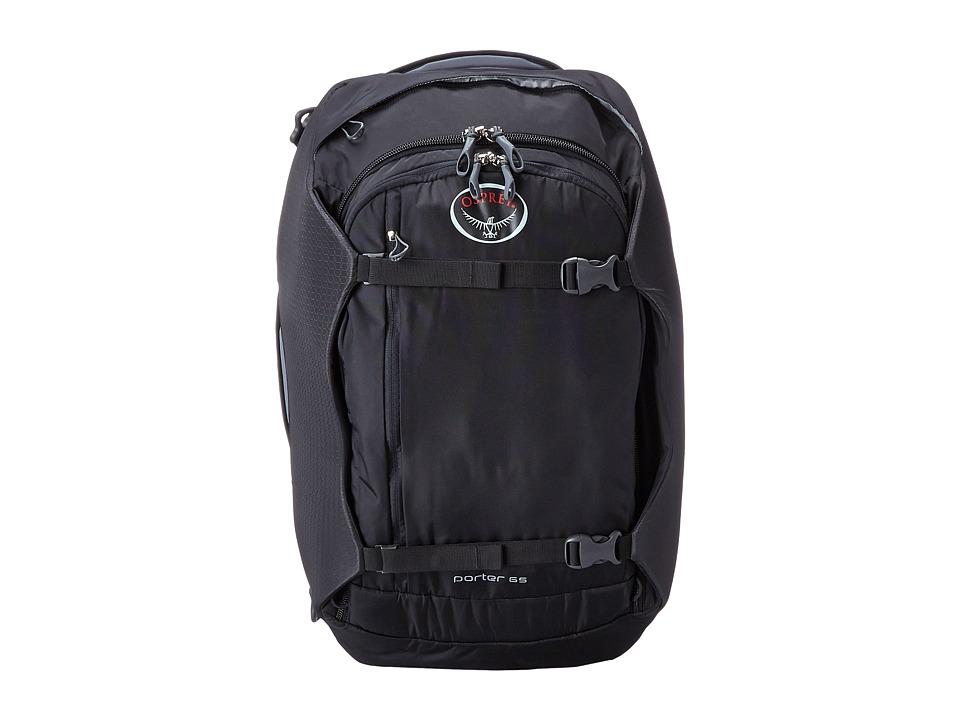 Osprey - Porter 65 (Black) Backpack Bags