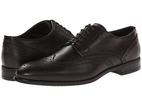BRUNO MAGLI - Saffyn (Dark Brown Calf/P) Men's Lace Up Wing Tip Shoes