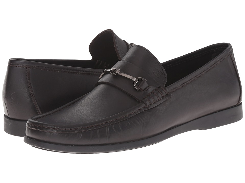 Bruno Magli - Enaudin (Dark Brown Smooth) Men's Slip on Shoes
