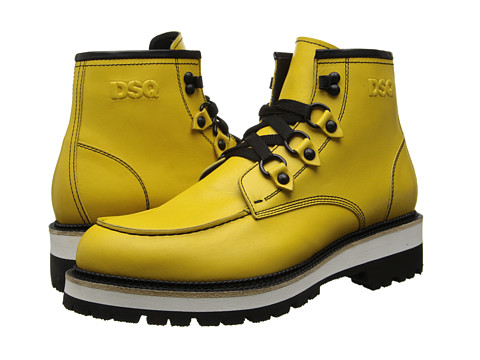 DSQUARED2 - Runway Construction Ankle Boot (Yellow) Men's Boots