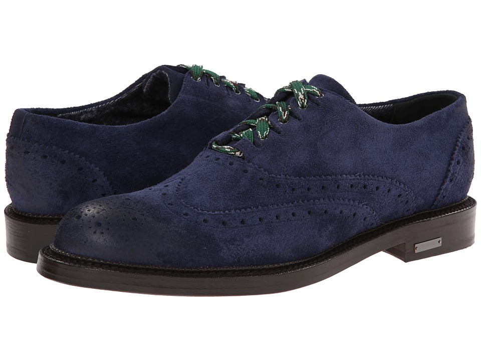 DSQUARED2 - Louisiana Wingtip (Navy) Men's Lace up casual Shoes