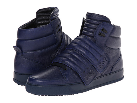 DSQUARED2 - Seoul High Top Sneaker (Navy) Men's Hook and Loop Shoes
