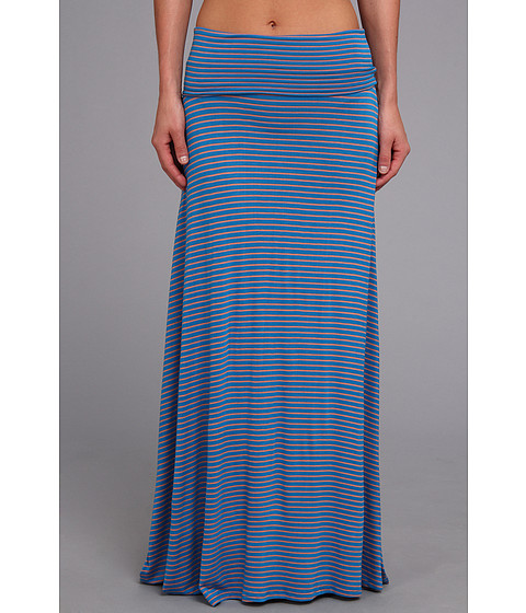 Culture Phit - Clare Stripe Maxi Skirt (Blue/Pink) Women's Skirt