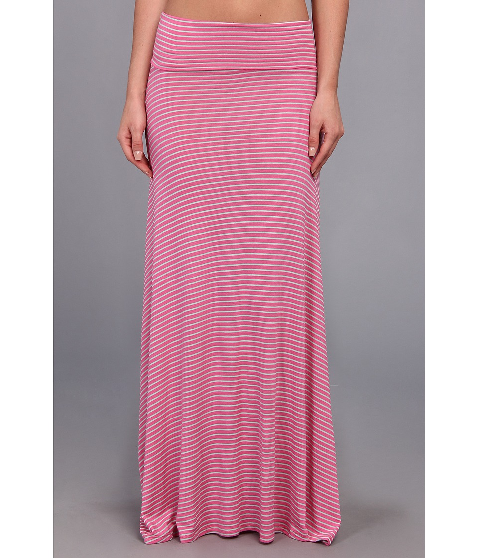 Culture Phit - Clare Stripe Maxi Skirt (Pink/Mint) Women