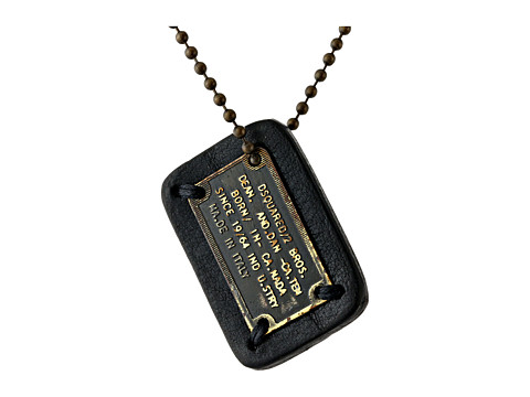 DSQUARED2 - Little Plaque Necklace (Black) Necklace
