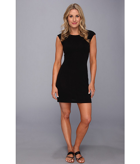 Nally & Millie - Cap Sleeve Sweater Dress (Black) Women