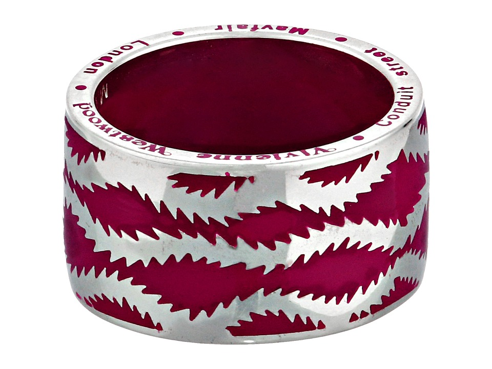Vivienne Westwood - Squiggle Band Ring (Bordeaux) Ring