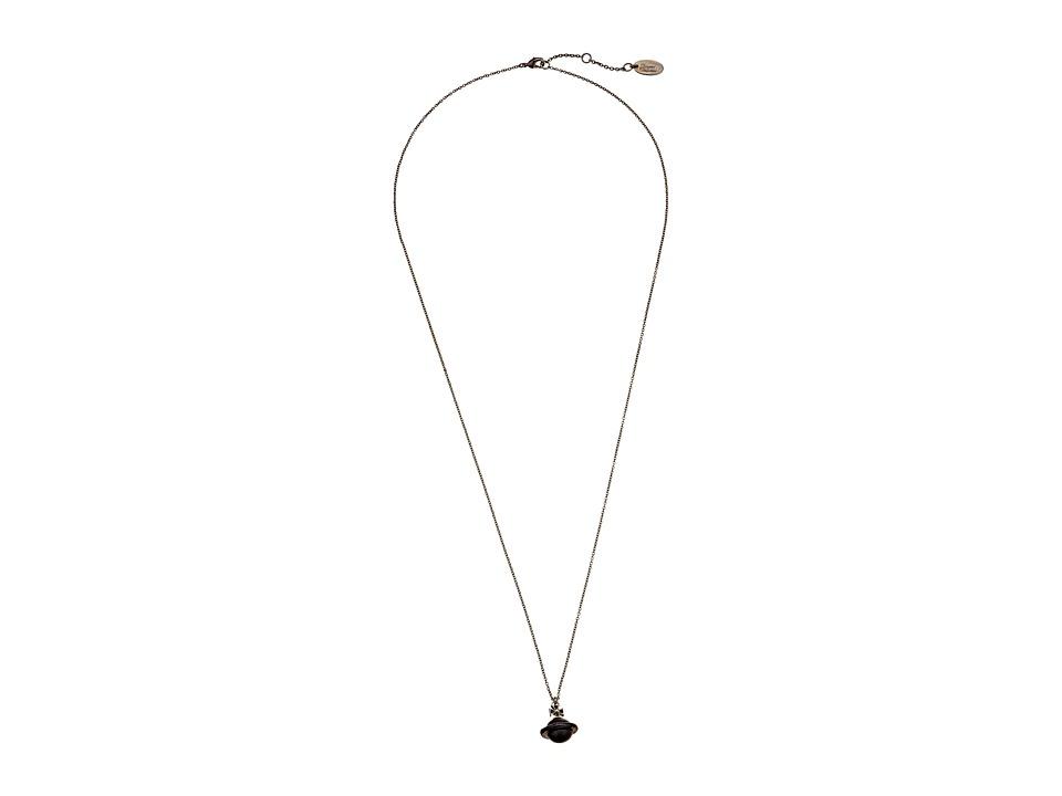 Vivienne Westwood - Lakshmi Orb Small Pendant (Black) Pendants Pins