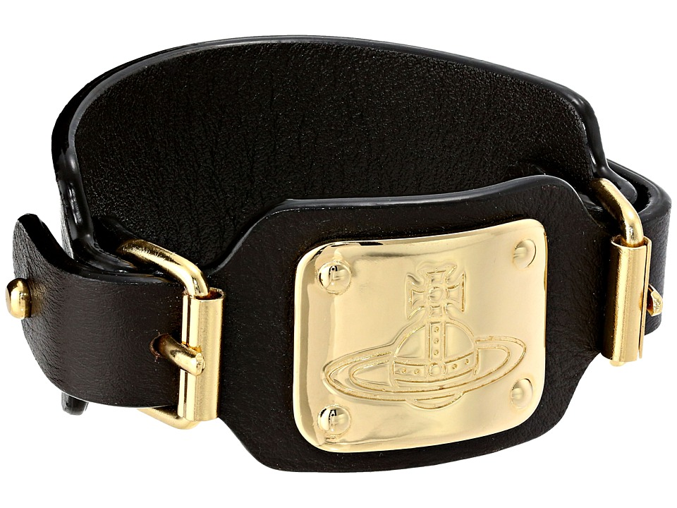 Vivienne Westwood - Ezra Leather Cuff (Brown) Bracelet