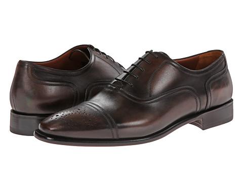 a. testoni - Fondente Perforated Oxford (Dark Brown) Men