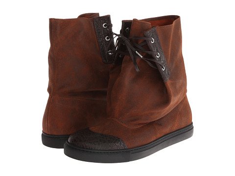 Vivienne Westwood - Suede Slouch Boot (Dark Brown) Men's Boots