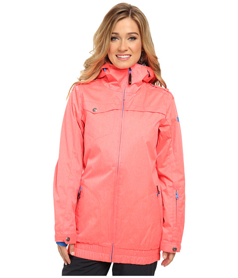 DC - Riji 15 J Snowboarding Jacket (Fiery Coral) Women