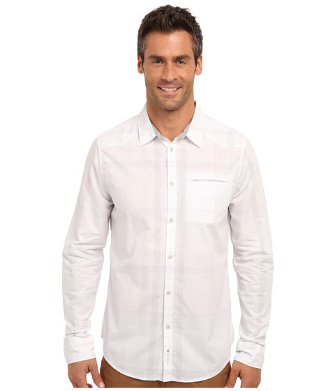 Calvin Klein Jeans - L/S Single Chest Pocket (White.) Men's Long Sleeve Button Up
