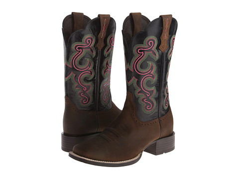 Ariat - QuickDraw (Distressed Brown/Black) Cowboy Boots