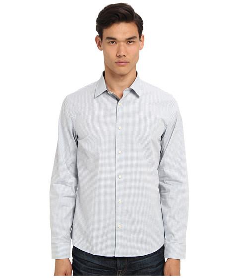 Michael Kors - Myles Check Tailored Shirt (Glacier) Men's Long Sleeve Button Up