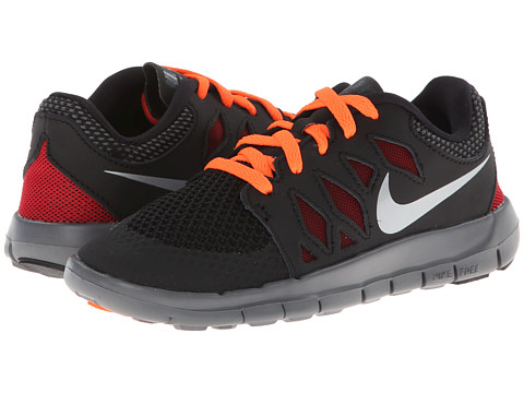 Nike Kids - Free 5 (Little Kid) (Black/Dark Grey/Gym Red/Metallic Silver) Kids Shoes