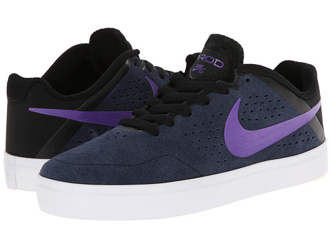 Nike SB Kids - Paul Rodriguez CTD LR (Big Kid) (Obsidian/Black/White/Hyper Grape) Boys Shoes