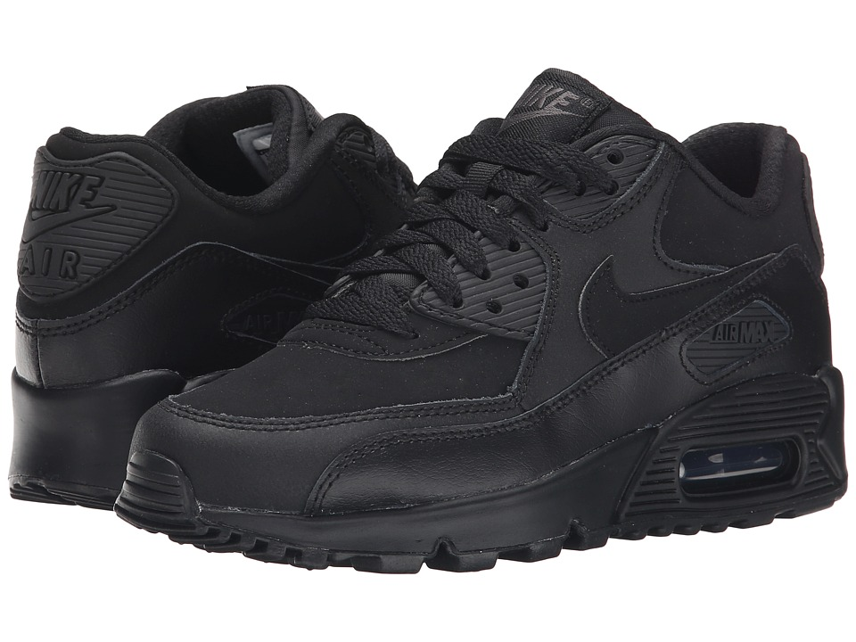 Nike Kids - Air Max 90 (Big Kid) (Black/Dark Grey) Boy's Shoes