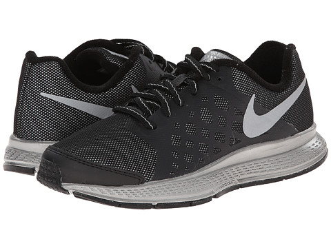 Nike Kids - Zoom Pegasus+ 31 Flash (GS) (Little Kid/Big Kid) (Black/Reflect Silver) Boys Shoes
