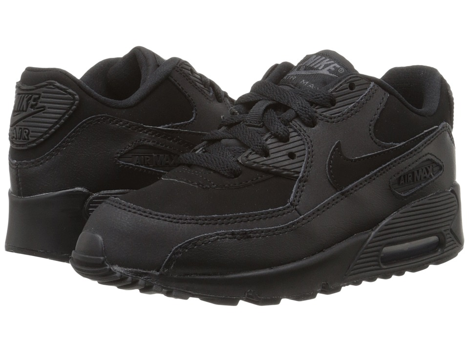 Nike Kids Air Max 90 (Little Kid) (Black/Dark Grey) Boys Shoes