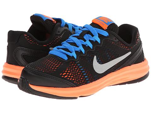Nike Kids - Fusion Run 3 (Little Kid) (Cool Grey/Wolf Grey/Photo Blue/Hyper Crimson) Boys Shoes