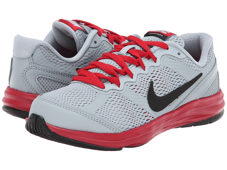 Nike Kids - Fusion Run 3 (Little Kid) (Light Magnet Grey/Metallic Silver/Gym Red/Black) Boys Shoes