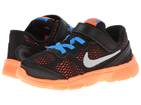 Nike Kids - Fusion Run 3 (Infant/Toddler) (Cool Grey/Wolf Grey/Photo Blue/Hyper Crimson) Boys Shoes