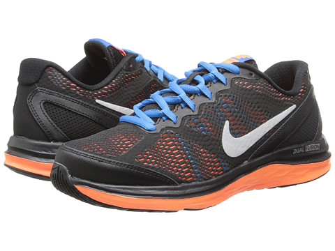 Nike Kids - Dual Fusion Run 3 (Big Kid) (Cool Grey/Wolf Grey/Photo Blue/Hyper Crimson) Boys Shoes