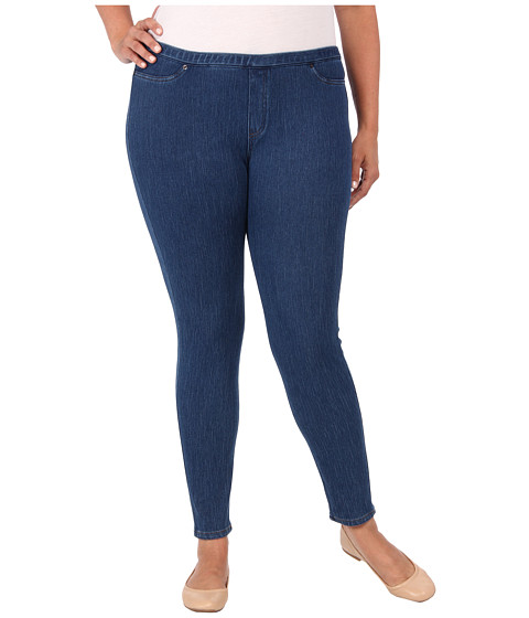 HUE - Plus Size Original Jeanz Legging (Medium Wash) Women's Clothing