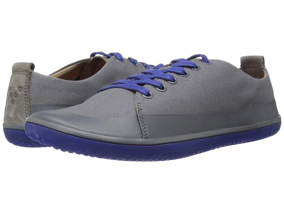 Vivobarefoot - Freud (Dark Grey/Blue Canvas/Rubber Print) Men's Shoes