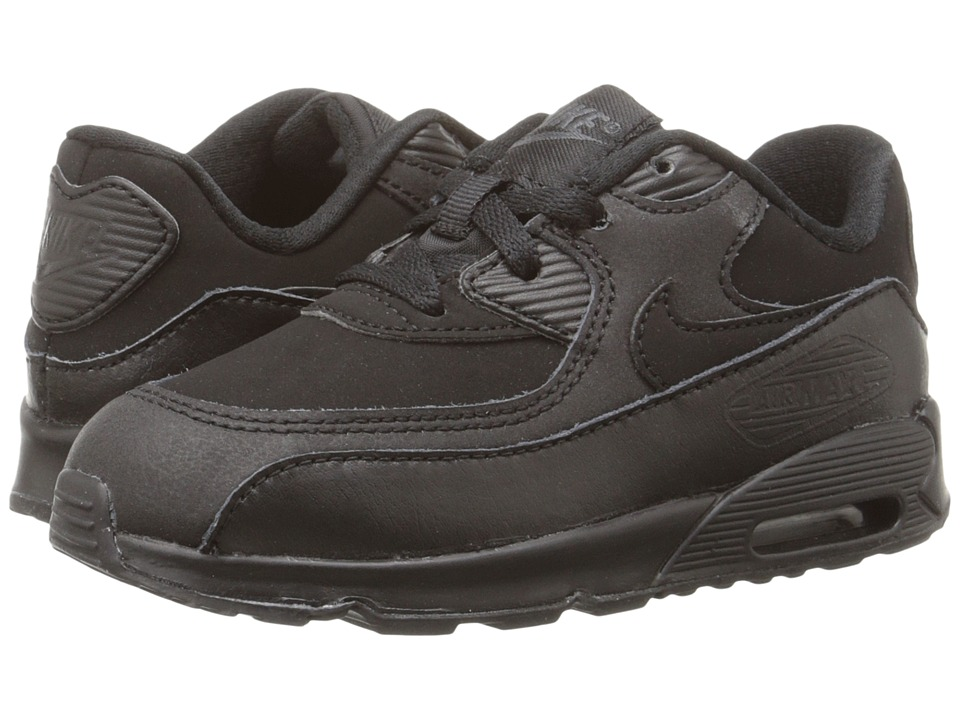 Nike Kids Air Max 90 (Infant/Toddler) (Black/Dark Grey) Boys Shoes