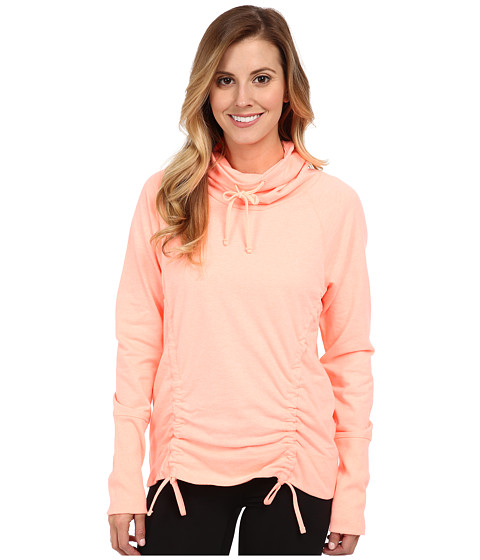 Lucy - Lean Mean Pullover (Light Poppy Heather) Women's Workout