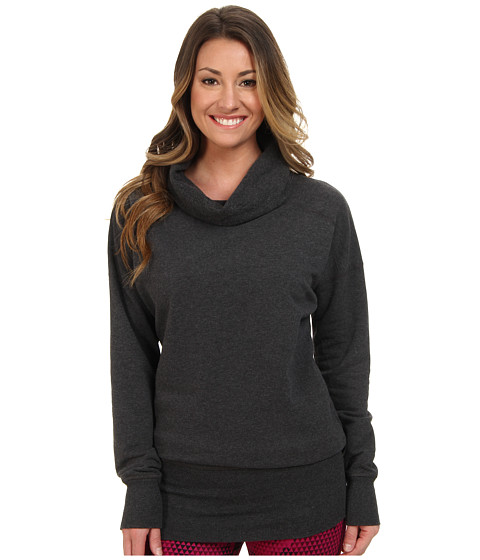 Lucy - Cool Down Pullover (Asphalt Heather) Women's Long Sleeve Pullover