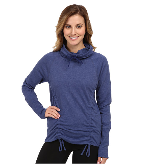 Lucy - Lean Mean Pullover (Ultramarine Heather) Women's Workout