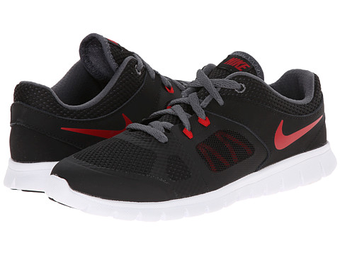 Nike Kids - Flex 2014 Run (Little Kid) (Black/Dark Grey/White/Gym Red) Boys Shoes
