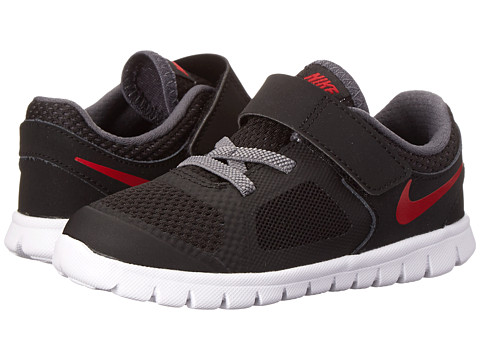 Nike Kids - Flex Run 2014 (Infant/Toddler) (Black/Dark Grey/White/Gym Red) Boys Shoes