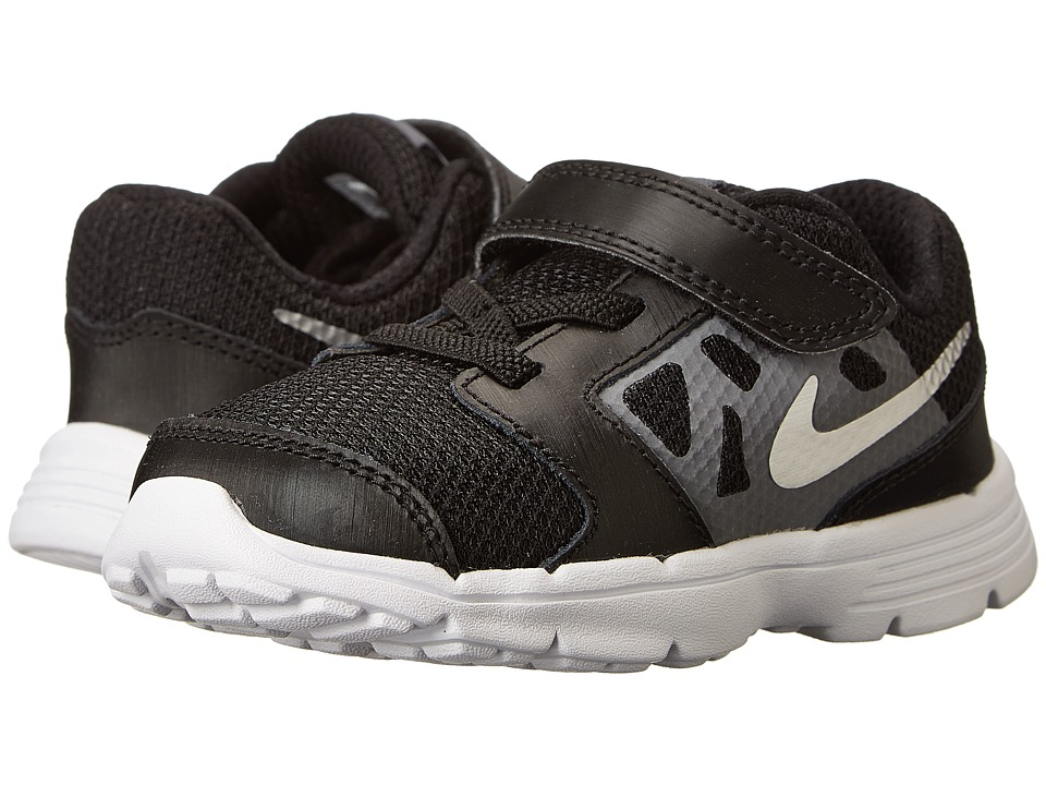 Nike Kids - Downshifter 6 (Infant/Toddler) (Black/Cool Grey/White/Metallic Silver) Boys Shoes
