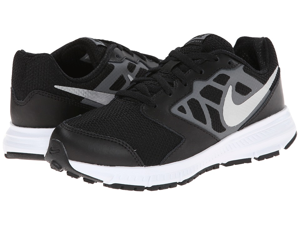 Nike Kids Downshifter 6 (Little Kid/Big Kid) (Black/Cool Grey/White/Metallic Silver) Boys Shoes
