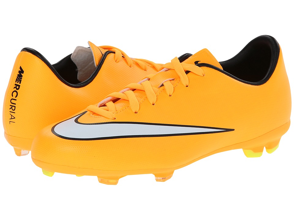 Nike Kids - Jr Mercurial Victory Firm Ground Soccer (Toddler/Little Kid/Big Kid) (Laser Orange/Black/Volt/White) Kids Shoes