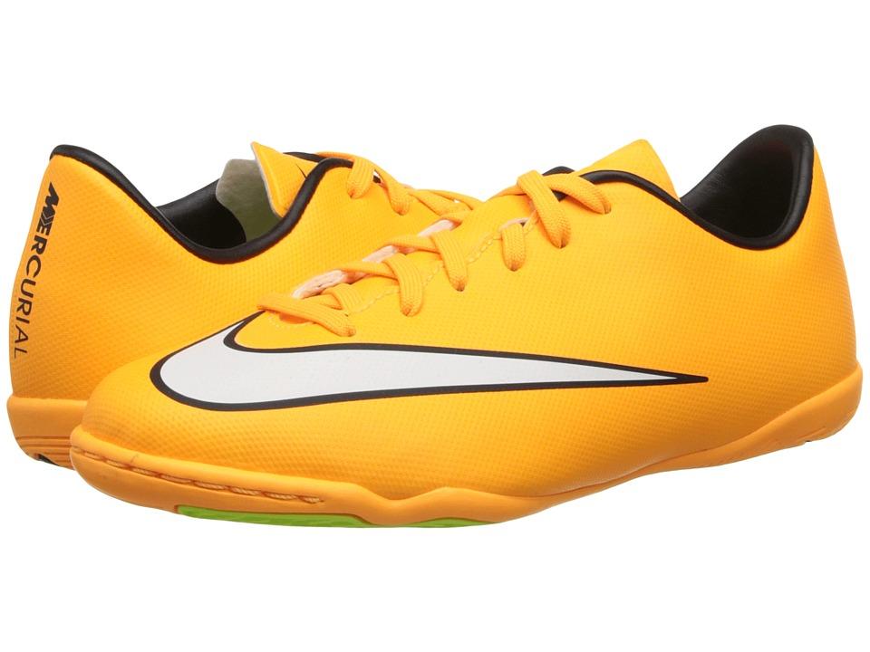 Nike Kids - Jr Mercurial Victory Indoor Soccer (Toddler/Little Kid/Big Kid) (Laser Orange/Black/Volt/White) Kids Shoes