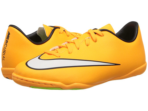 Nike Kids - Jr Mercurial Victory Indoor Soccer (Toddler/Little Kid/Big Kid) (Laser Orange/Black/Volt/White) Kids Shoes