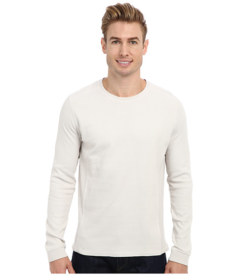 Calvin Klein Jeans - L/S Mixed Media Waffle Pullover (Lunar Rock) Men