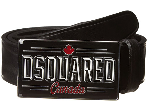 DSQUARED2 Canadian Buckle Belt (Black) Men's Belts