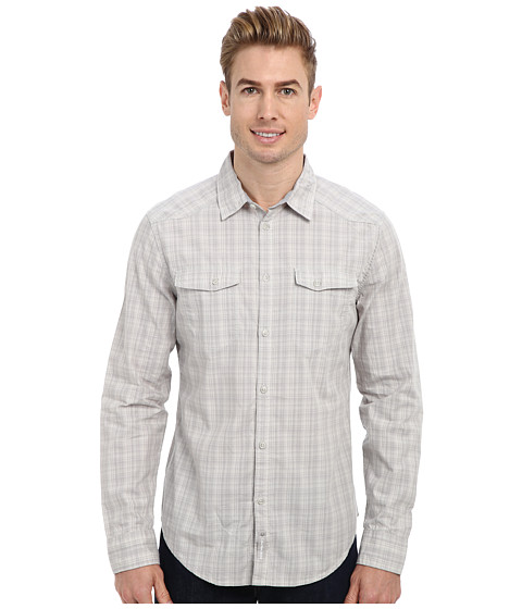 Calvin Klein Jeans - L/S Curved Yoke Shirt (Rainstorm) Men's Long Sleeve Button Up