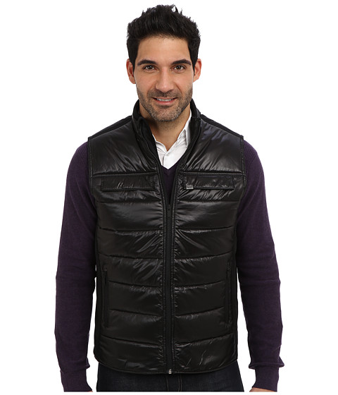 Calvin Klein Jeans - Ripstop Poly Mixed Media Vest (Black) Men