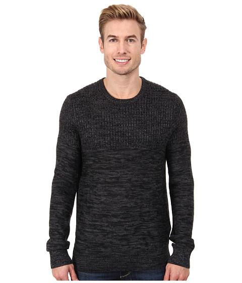 Calvin Klein Jeans - Parallel Knit Stripe Crew Neck Sweater (Black) Men
