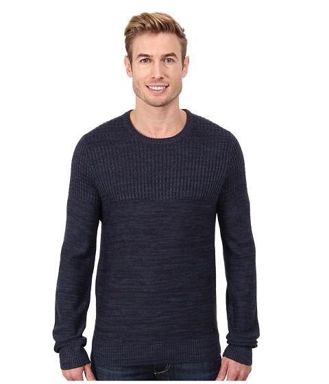 Calvin Klein Jeans - Parallel Knit Stripe Crew Neck Sweater (Navy Armada) Men's Sweater
